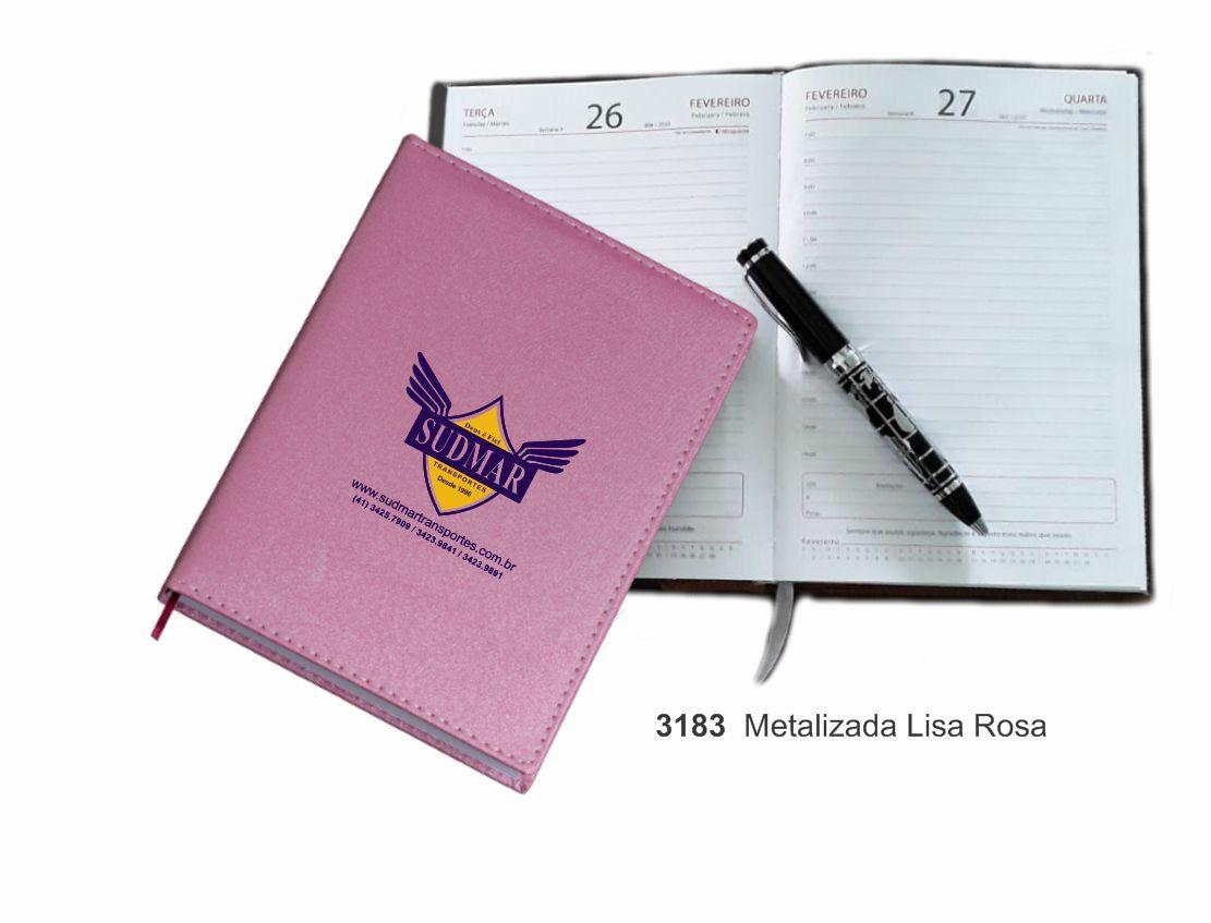 Agenda Diária 2022, costuradas com recortes - 3183