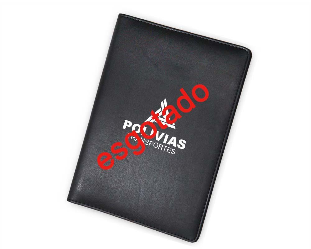 Pasta Convenção Sintético Preto, Porta Celular - 700.GA