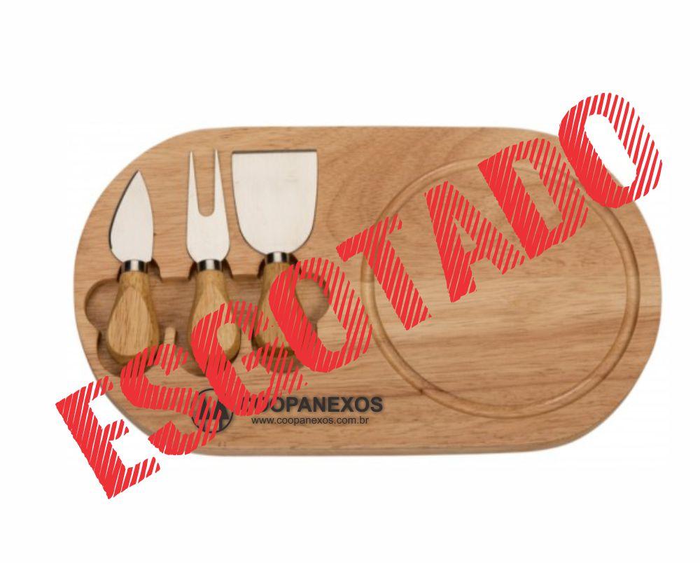 Kit queijo, Tábua Bambu Retangular, 4 peças - TKQ.072341
