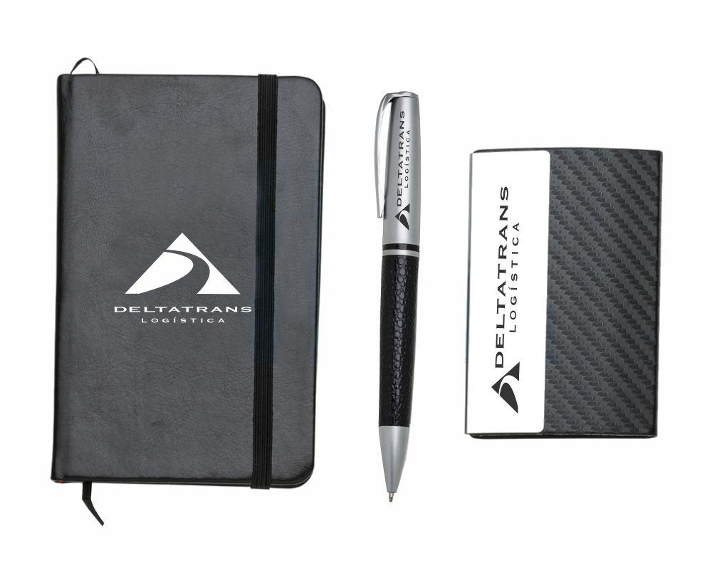 Box Executivo Innovare Mloleskine, Porta Cartão, Caneta Esfero Metal - BEI.89900